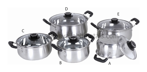 13PC Encapsulated Cookware BakeLite SS Lid