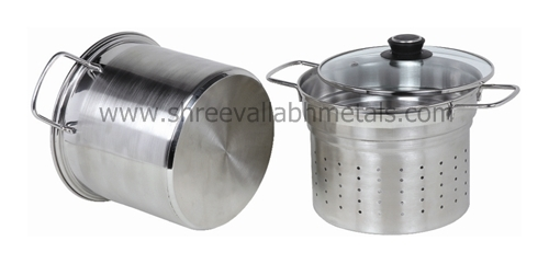 6QT 3PC Pasta Steamer Encapsulated CKS Wire Handle GL