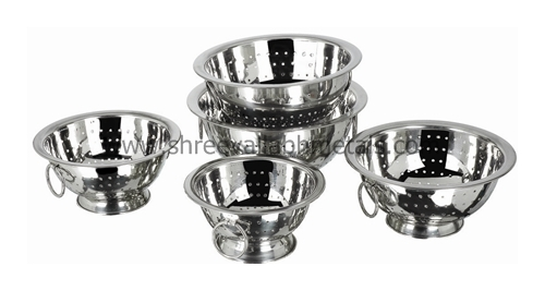 Deep Colander (Delux) With Ring Handle