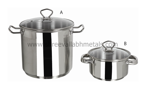 Premium Stock Pot With Glass Lid