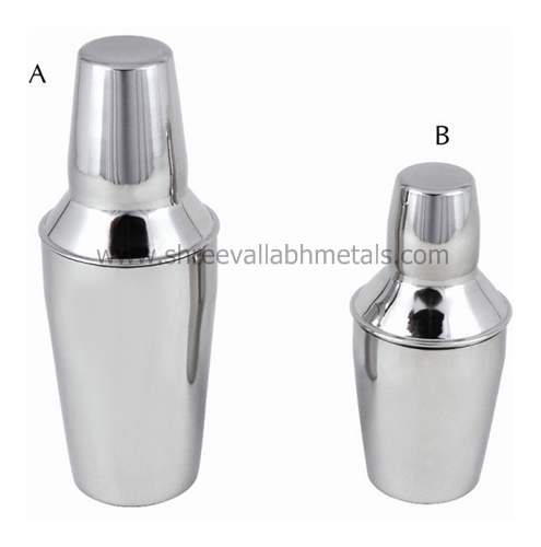 Regular and Peg Stainless Steel Cocktail Shaker
