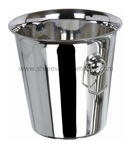 Tulip Ring Handle Stainless Steel Wine Bucket