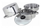 3QT 4PC Encapsulated Pasta Steamer With GlassLid