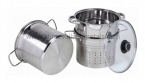 6QT 3PC Pasta Steamer Encapsulated CKS Tubler Handle GL
