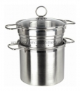 6QT Pasta Steamer With Glass Lid