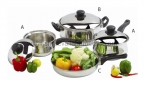 7 PC Belly Cookware Set with BakeLite Handle