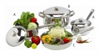 7 PC Belly Cookware Set with Stainless Steel Handle