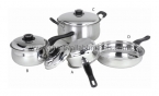 7pc Belly Encapsulated Cookware SS Lid
