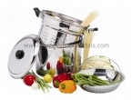 Stainless Steel Stock Pot & Steamers