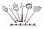 Maroon Handle (7 Pcs Set)