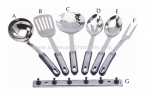 Nine Dot Micro Heat Resistant Spoons 7 Pcs Set
