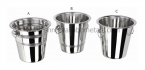 Ribbed, One star & Plain Wine Bucket